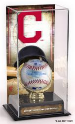 Cleveland Indians Game-Used Baseball and Sublimated Display Case
