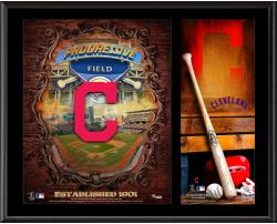 Cleveland Indians Sublimated 12'' x 15'' Team Logo Plaque - Mounted Memories