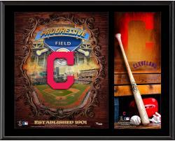 "Cleveland Indians Sublimated 12"" x 15"" Team Logo Plaque"