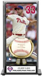 Cliff Lee Philadelphia Phillies Baseball Display Case with Gold Glove & Plate - Mounted Memories