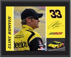 Clint Bowyer 10.5'' x 13'' Sublimated Plaque - Mounted Memories
