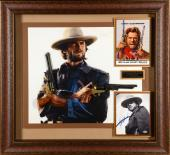 """Clint Eastwood 37"""" x 41"""" Framed Shadowbox The Outlaw Josey Wales Collage with Autographed 8x10 - Beckett LOA"""