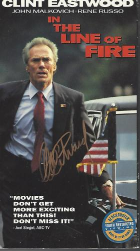 """CLINT EASTWOOD as FRANK HORRIGAN in the 1993 Movie """"IN THE LINE OF FIRE"""" Signed VHS Box with VHS inside Box"""