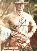 """CLINT EASTWOOD as HIGHWAY in """"HEARTBREAK RIDGE"""" Signed 8x11 Photo"""
