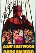 """CLINT EASTWOOD as MARSHAL JED COOPER in the 1968 Movie """"HANG'EM HIGH"""" Signed 4x6 Color Photo"""