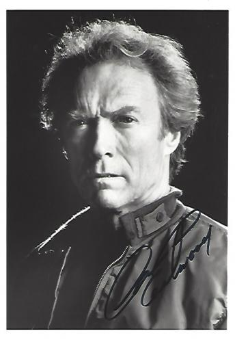 """CLINT EASTWOOD as MITCHELL GANT in the Movie """"FIREFOX"""" Signed 5x7 B/W Photo"""