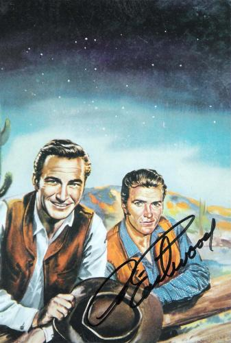"""CLINT EASTWOOD as ROWDY YATES on TV Series """"RAWHIDE"""" Signed 4x6 Color Photo"""