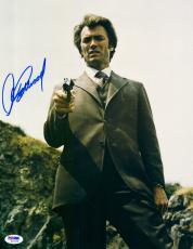"Clint Eastwood Autographed 11""x 14"" Dirty Harry Holding Gun Vertical Photograph - PSA/DNA LOA"