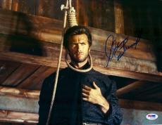 "Clint Eastwood Autographed 11""x 14"" Hang 'Em High Head In Noose Photograph - PSA/DNA LOA"