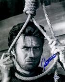 "Clint Eastwood Autographed 11""x 14"" Hang 'Em High Holding Rope Photograph - BAS LOA"