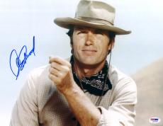 "Clint Eastwood Autographed 11""x 14"" Rawhide Wearing Cowboy Hat Horizontal Photograph - PSA/DNA LOA"