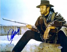 """Clint Eastwood Autographed 11""""x 14"""" The Good, the Bad and the Ugly Smoking Photograph - BAS LOA"""