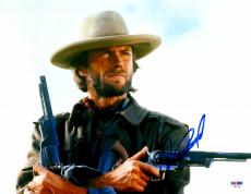 "Clint Eastwood Autographed 11""x 14"" The Outlaw Josey Wales Holding Guns Photograph - PSA/DNA LOA"