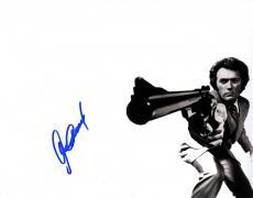 Clint Eastwood Autographed 11x14 B/W Dirty Harry Poster Photo W/Vid Proof UACC R