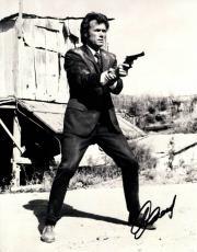 Clint Eastwood Autographed 11x14 Dirty Harry Photo UACC RD COA AFTAL