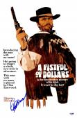"Clint Eastwood Autographed 12"" x 18"" A Fistful of Dollars Movie Poster - BAS COA"