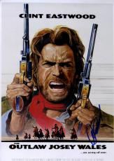 Clint Eastwood Autographed 12x18 Josey Wales Poster Photo UACC RD COA AFTAL