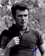 Clint Eastwood Autographed 16x20 B/W Photo AFTAL UACC RD COA PSA Letter