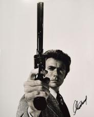 Clint Eastwood Autographed 16x20 Dirty Harry Poster Photo PSA AFTAL
