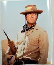 Clint Eastwood Autographed 16x20 Vintage Western Poster Photo PSA AFTAL