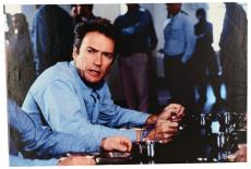 "Clint Eastwood Autographed 20""x 30"" Escape from Alcatraz Stretched Canvas - BAS COA"
