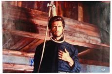 "Clint Eastwood Autographed 20""x 30"" Hang 'Em High Stretched Canvas - BAS COA"
