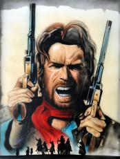 Clint Eastwood Autographed 22x28 Canvas Custom Painting UACC RD COA AFTAL