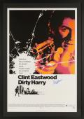 """Clint Eastwood Autographed Framed 32"""" x 45"""" Dirty Harry Movie Poster - PSA/DNA"""
