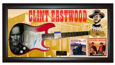Clint Eastwood Autographed Signed Airbrushed Guitar PSA DNA AFTAL + Display