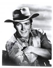 Clint Eastwood Autographed Signed Young B/W 8x10 Photo AFTAL