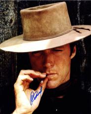 Clint Eastwood Autographed Smoking 16X20 Poster Photo UACC RD AFTAL COA