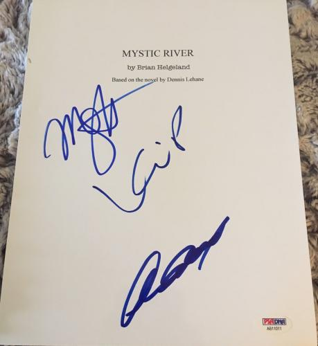 "Clint Eastwood Cast Signed Autograph ""mystic River"" Movie Script Psa Dna Coa +3"