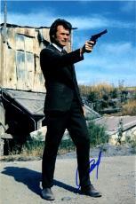 Clint Eastwood Dirty Harry Autographed 12x18 Poster Photo AFTAL UACC RD COA