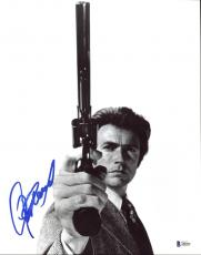 Clint Eastwood Dirty Harry Signed B & W 11X14 Photo BAS #A80430