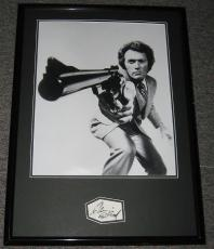 Clint Eastwood Signed Framed 20x28 Dirty Harry Poster Display JSA