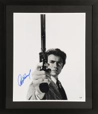 """Clint Eastwood Framed Autographed 16"""" x 20""""  Dirty Harry Pointing Gun Up Photograph - PSA LOA"""