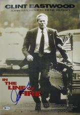 Clint Eastwood In The Line Of Fire Signed 12x18 Photo BAS #A09392