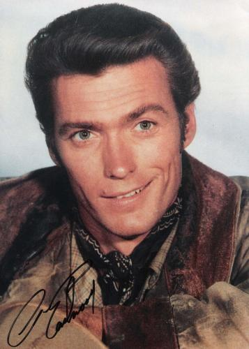 """CLINT EASTWOOD - Movies Include """"DIRTY HARRY"""", """"HANG'EM HIGH"""", and """"IN the LINE of FIRE"""" Signed 8x11 Color Photo"""