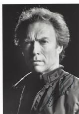 "CLINT EASTWOOD - Movies Include ""DIRTY HARRY"", ""IN the LINE of FIRE"", and ""GRAN TORINO"" Signed 5x7 B/W Photo"
