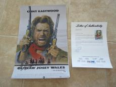 Clint Eastwood Outlaw Josey Wales Signed 12x18 Movie Poster Photo PSA Certified
