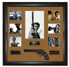 Clint Eastwood Signed 11x14 Dirty Harry Photo w Gun Framed Custom Display