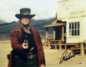 CLINT EASTWOOD SIGNED 11x14 PHOTO FROM PALE RIDER PSA/DNA COA #X00171