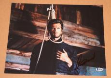 Clint Eastwood Signed 11x14 Photo THE GOOD, THE BAD AND THE UGLY Beckett BAS COA