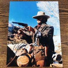 CLINT EASTWOOD SIGNED 11x14 PHOTO THE OUTLAW JOSEY WALES BECKETT BAS LOA #A12185