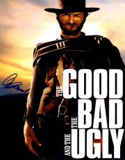 Clint Eastwood Signed 11x14 Promo The Good Bad Ugly Poster Photo AFTAL UACC RD
