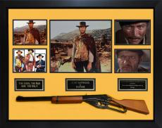 Clint Eastwood Signed 11x14 The Good Bad Ugly Framed Custom Display w Rifle