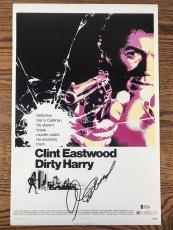 CLINT EASTWOOD SIGNED 12x18 PHOTO DIRTY HARRY AUTHENTIC BECKETT BAS LOA #A12190
