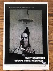 CLINT EASTWOOD SIGNED 12x18 PHOTO ESCAPE FROM ALCATRAZ AUTHENTIC BAS LOA #A12189