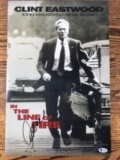 CLINT EASTWOOD SIGNED 12x18 PHOTO IN THE LINE OF FIRE AUTHENTIC BAS LOA #A12188