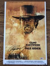 CLINT EASTWOOD SIGNED 12x18 PHOTO PALE RIDER AUTHENTIC BECKETT BAS LOA #A12192